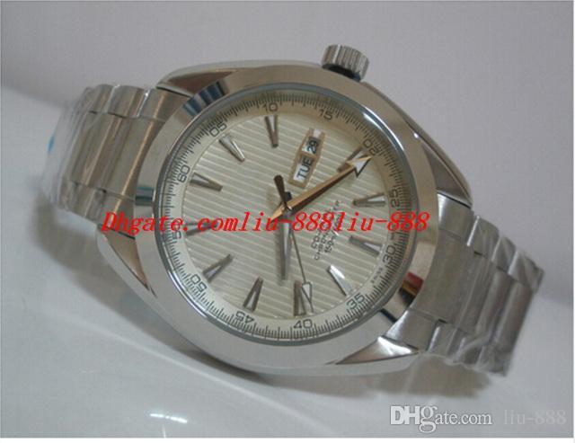 Relógios de luxo Relógio De Pulso Automático Mens Watch Silver Dial Pulseira De Aço Inoxidável Relógio De Pulso Dos Homens Relógios Mecânicos