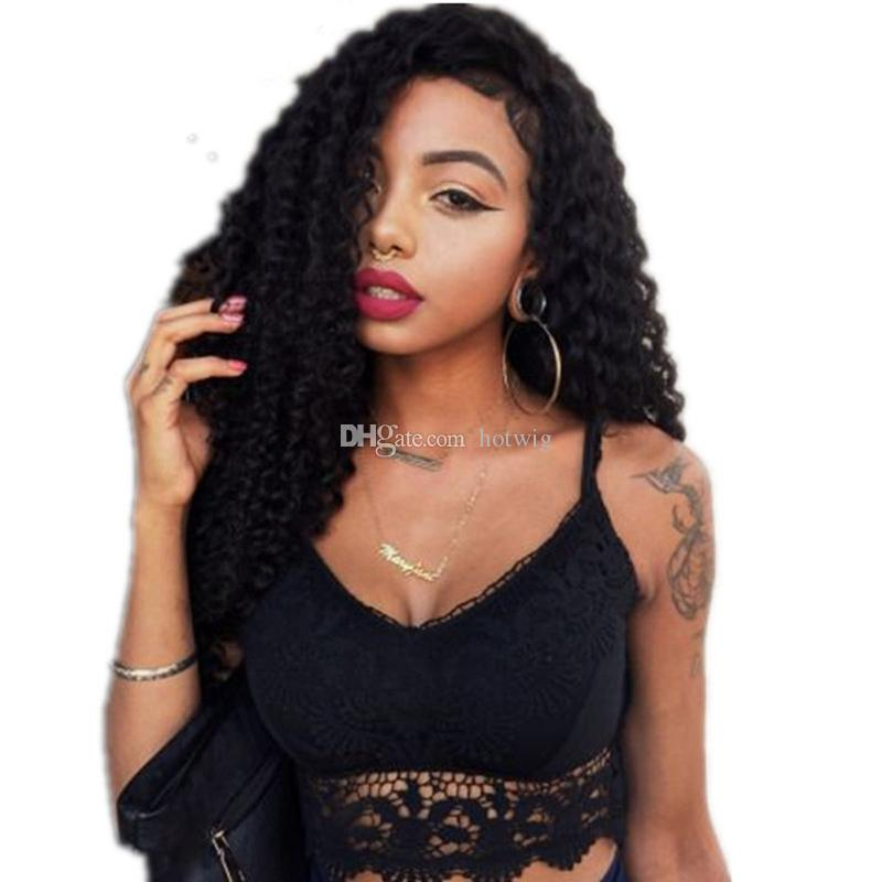 Glueless Full Lace Human Hair Wigs For Black Women Brazilian Kinky Curly Lace Front Human Hair Wigs Kinky Curly Wig