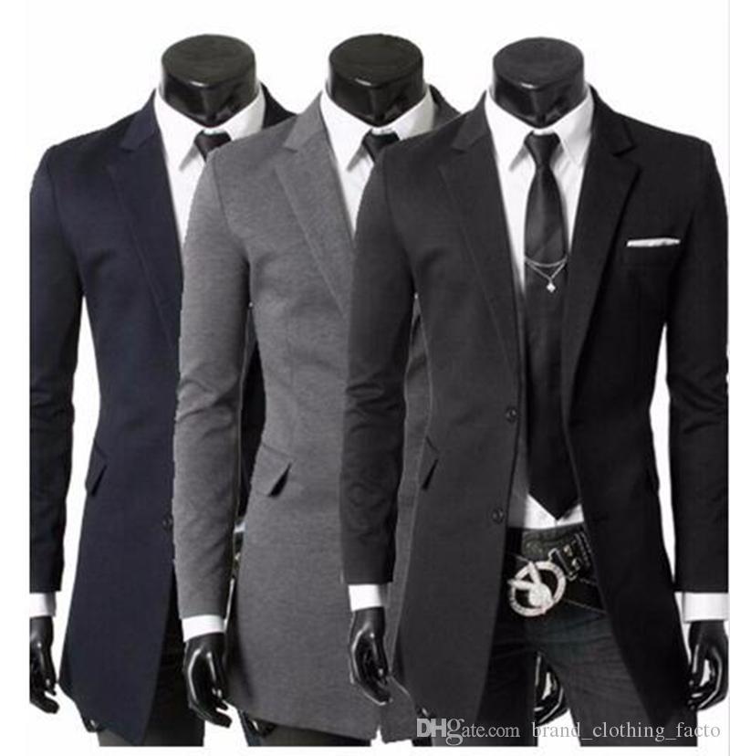 Männer in Europa und der Trend der Freizeitmode im Business-Englisch neue Boutique lange kleine Jacken in Persönlichkeit / M-2XL