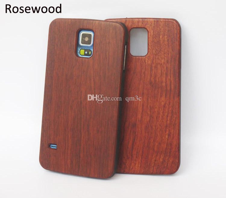 Legno di bambù per Samsung Galaxy S5 S6 bordo S7 s9 s8 cassa del telefono mobile legno duro posteriore Cover per Iphone 6 plus 7 6s 8 X casi di cellulare
