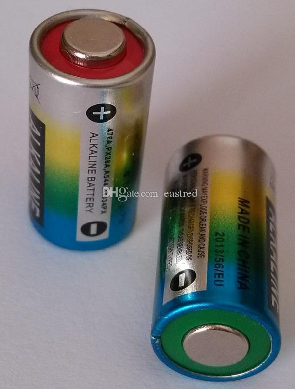 600pcs / lot, kvicksilverfritt batteri 4LR44 476A 4AG13 L1325 A28 6V alkaliska celler 100% färsk superkvalitet
