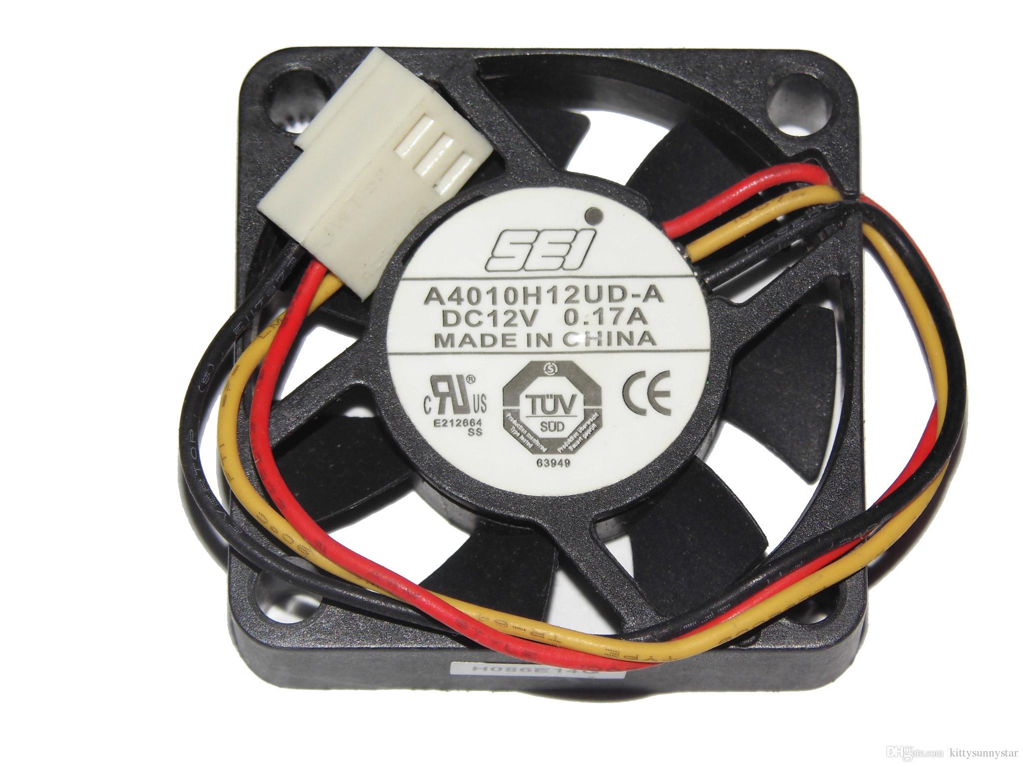 SEI A4010H12UD-A 12 V 0.17A 3TV HDTV Için, ATOM, HTPC Kasa fanı, Soğutma Fanı