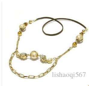 colar de diamantes pérola flwoer senhora (xysppfh)