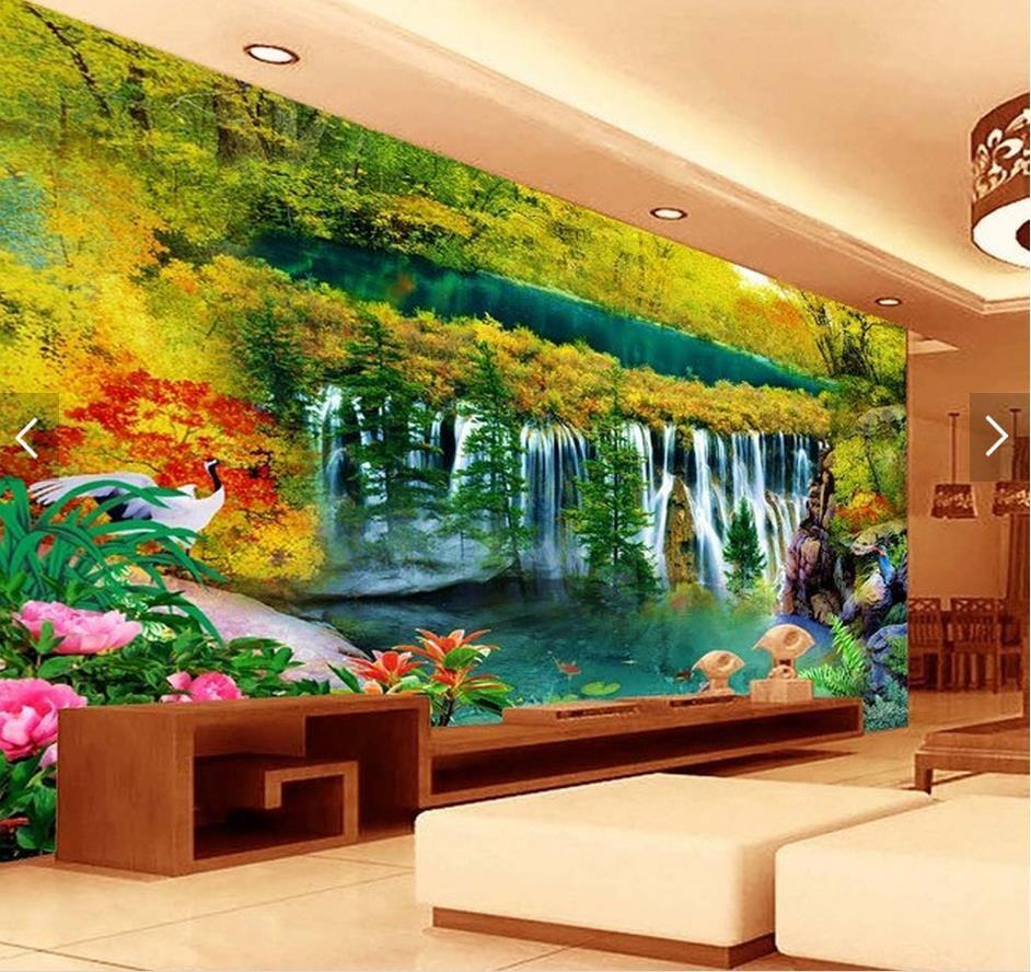 3d wall murals customized living room wallpaper wonderland 3d wall murals customized living room wallpaper wonderland waterfall tv backdrop 3d landscape wallpaper muur behang