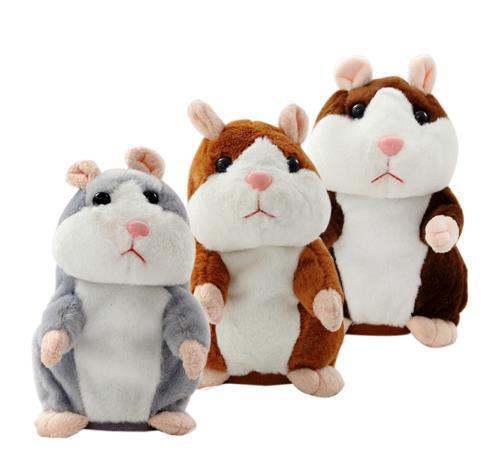 1 pcs 15CM Lovely Talking Hamster Plush Toy Cute Speak Talking Sound Record Hamster Talking Toys for Children sale