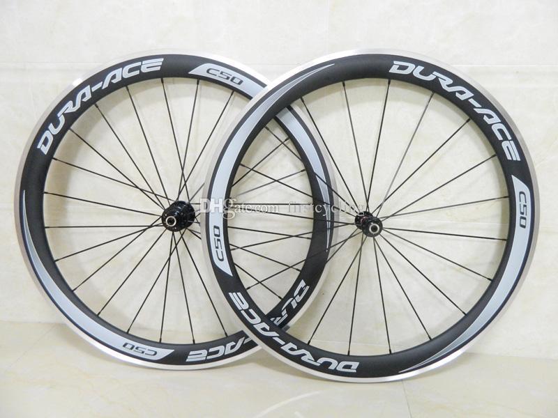 그레이 데칼 카본 휠 알루미늄 브레이크 자전거 윤축 탄소 섬유 도로 자전거 바퀴 Novatec A291 허브와 50mm 깊이