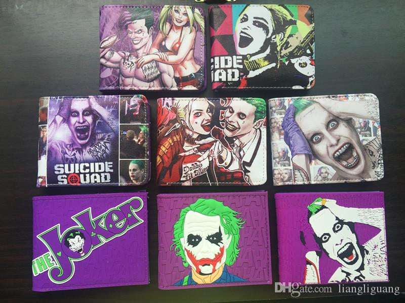 Movie SUICIDE SQUAD/ JOKER /Harley Quinn / Women Wallets Men Purse Short Slim Money Cards Pockets billeteras de cuero para hom