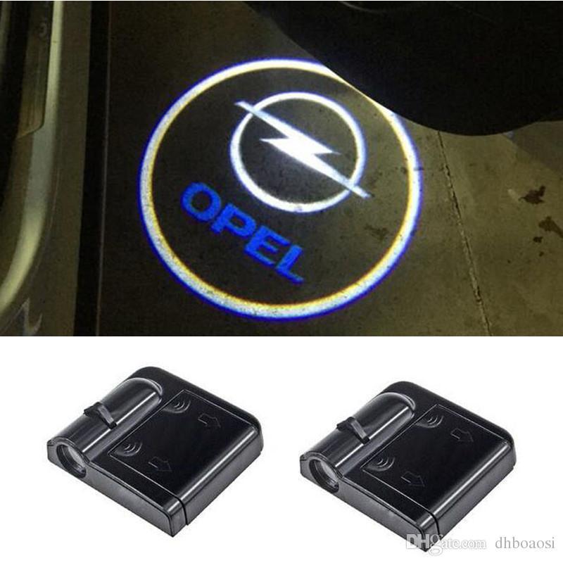 شبح الظل ضوء الترحيب أضواء الليزر العارض LED شعار سيارة ل أوبل أسترا H J Insignia Mokka Zafira Corsa Vectra C Antara