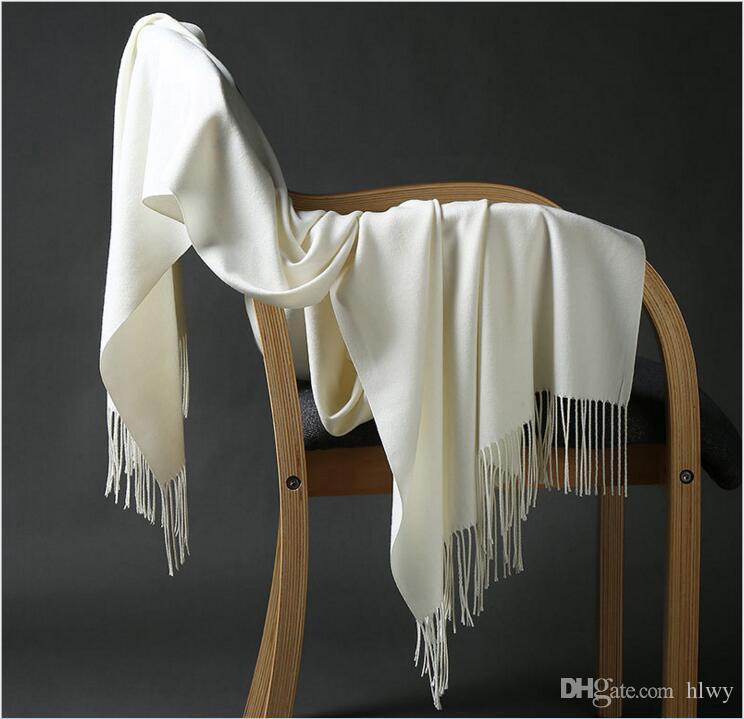 2017 16colors Hot Pashmina Cashmere Solidee Schal-Verpackungs-Frauen-Mädchen-Dame-Schal weicher Fringes fester Schal