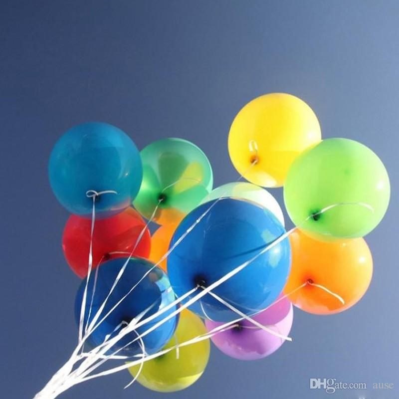 200 PCS / LOT 9 colores 10inch 1.8g globos de la perla del banquete de boda del globo