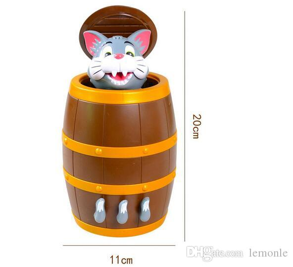 Lucky Game Pirate Cat Toy Tom Cat barrel Practical Jokes Tricky Toys 50pcs with package box