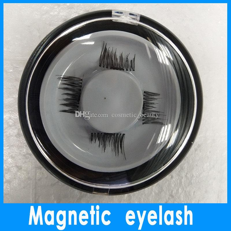 In stock 0.2mm 3D Magnetic False Eyelashes Extension Magnetic Eyelashes Makeup Soft Hair Magnetic Fake Eyelashes with retail packaging DHL
