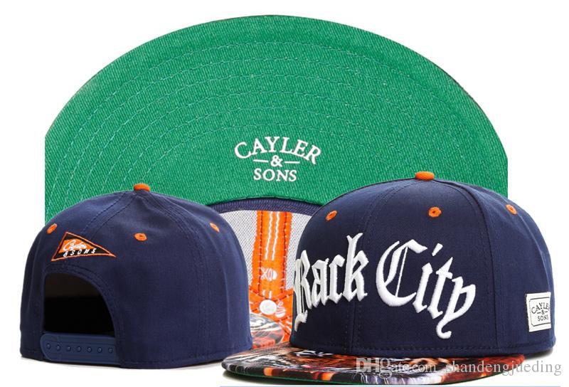 뜨거운 패션 조절 모자 문자 패턴 힙합 뼈 Gorras Snapback 모자 가을 Cayler 아들 Snapback 모자 모자