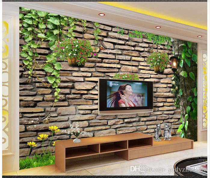 Custom Wall Mural 3d photo wallpaper custom wall murals wallpaper vines tree 3d tv