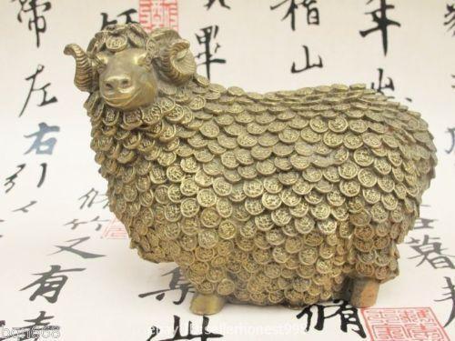 China Estatua auspiciosa popular de las ovejas de la bendición del dinero de la abundancia del zodiaco de la abundancia de China Fengshui