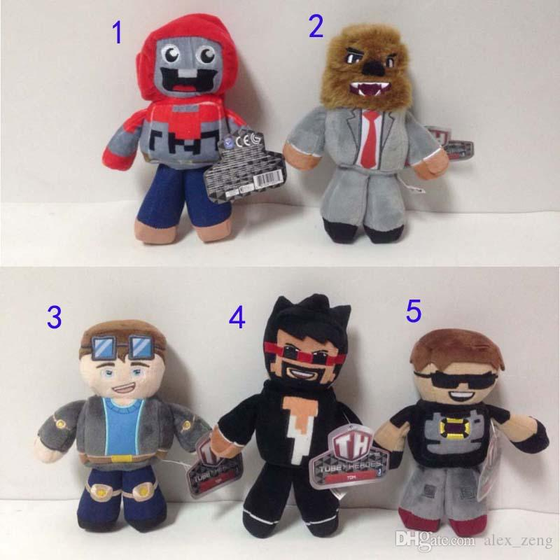 18-23CM TUBE HEROES TDM Plush Dolls Toys 5 style Children Cartoon Anime Play Games Movie Dolls Kids Gift Plush Dolls Free EMS A01
