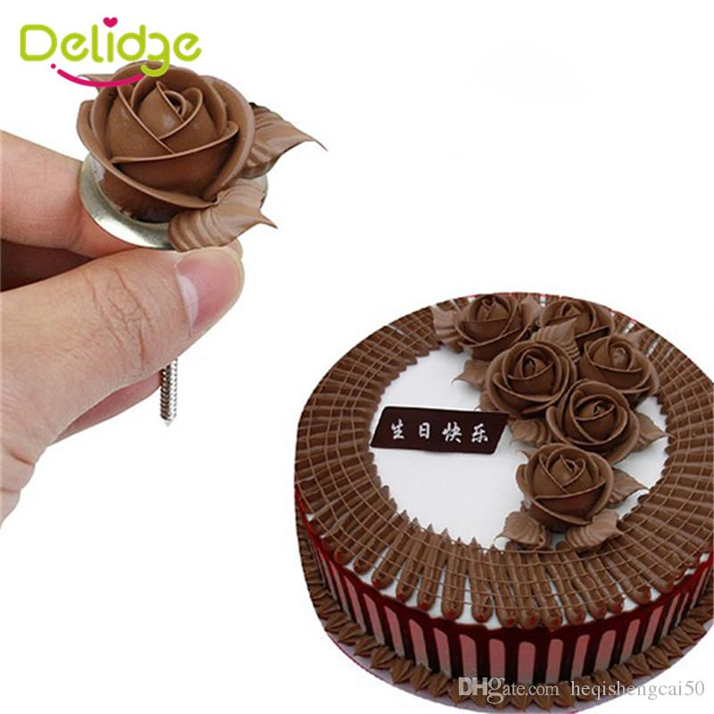 Delidge 20 pc Cake Decoration Nail 7 cm Rose Flower Maker Icing Cream Nail Stainless Steel Cake Decorating Needle