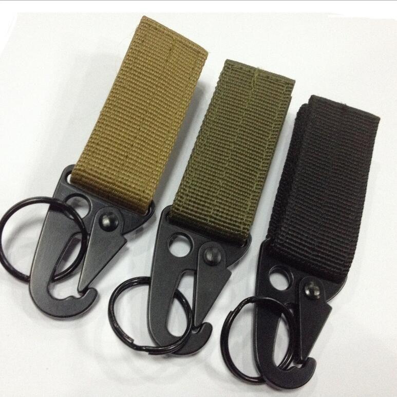 3 Color Carabiner High strength nylon backpack key hook webbing buckle hanging system Belt buckle hanging hook