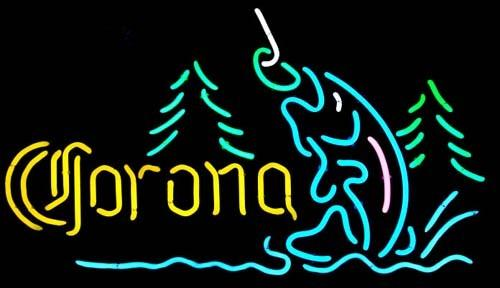 Fashion Handcraft Corona Mountain Fly Fishing Real Glass Tubes Beer Bar Pub Display neon sign 19x15!!!Best Offer!