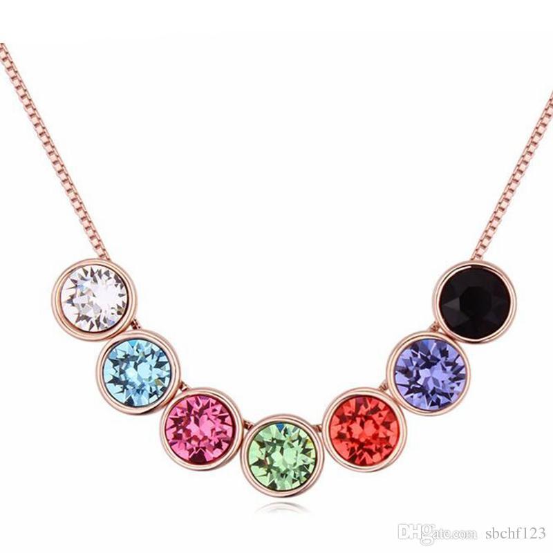 Damen Accessoires Kristall von Swarovski Elements Frauen-Qualitäts-Halsketten-Anhänger Rose Gold überzogene Art und Weise Schmuck 20099
