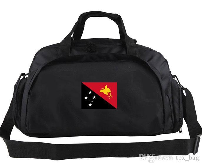 Borsone Papua Nuova Guinea Tote da allenamento Zaino dal design vintage Portabagagli Borsa da spalla sportiva Borsa da viaggio esterna