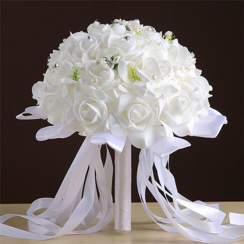 Bouquet Da Sposa Bianco.Acquista Bouquet Da Sposa Bouquet Da Sposa La Sposa 2017