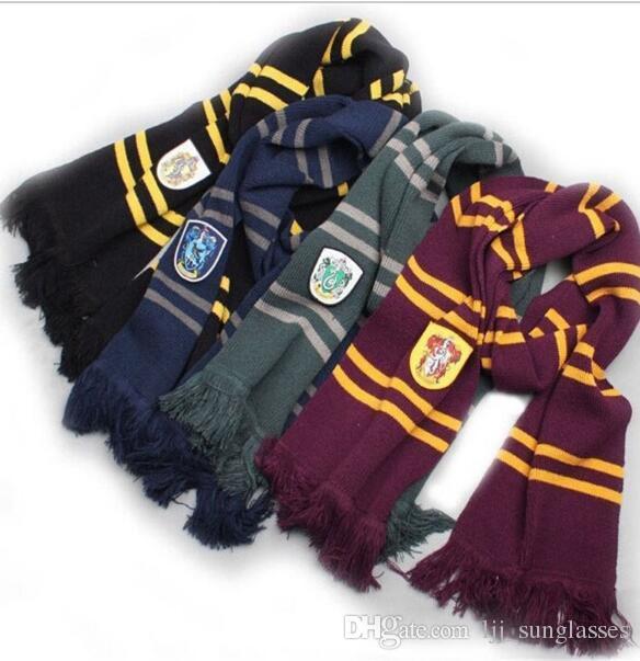 4752884dc8c Harry Potter Scarves Winter Warm Scarf Ravenclaw Gryffindor Scarf Magic  School Slytherin Scarf Christmas Gift KKA2876 Crochet Scarf Head Wraps From  ...
