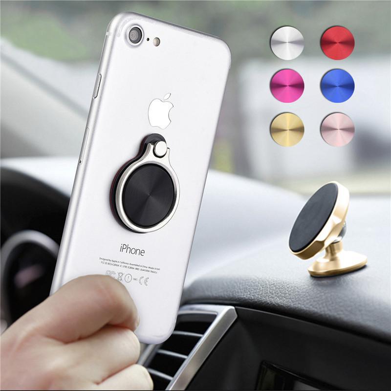 Phone Ring Magnetic Car Holder Finger Grip Bracket 360 Degree Universal for iPhone X 8 7 Samung Phone S9 Stand Bracket Stent