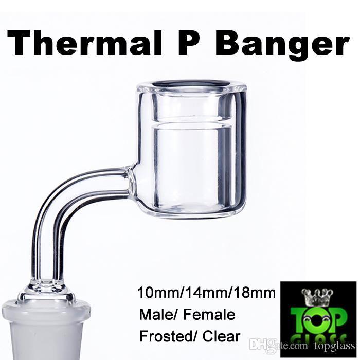 New Quartz Thermal P Banger Nail 10mm 14mm 18mm Quartz Thermal Banger Nails for Glass Water Pipes Dab Oil Rigs Glass Bongs