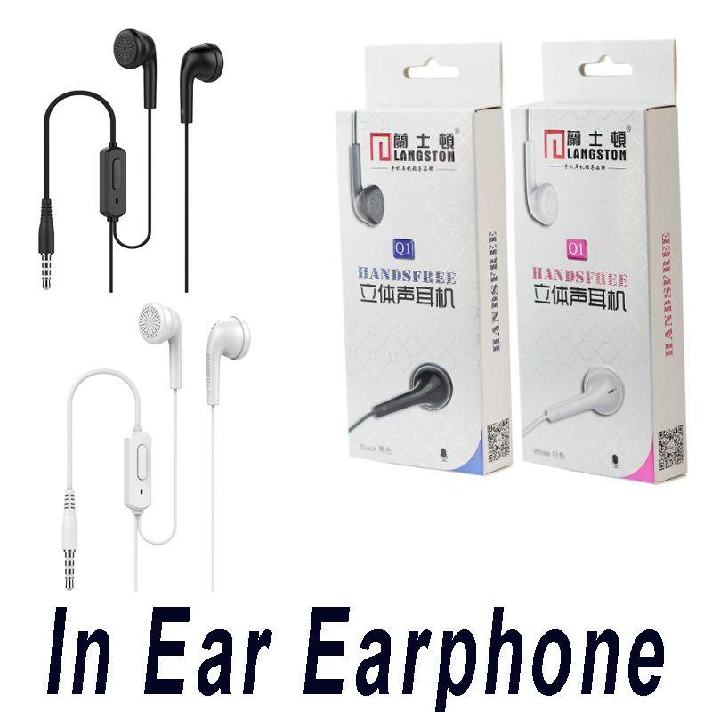 Langsdom fone Q1 Earbuds Super Bass Universal fone de ouvido com microfone para Samsung telefone celular com pacote de varejo