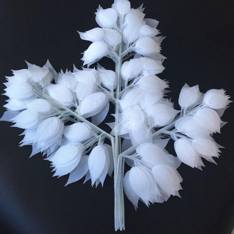 Новый Дизайн Цветок Белый Шелк Искусственные Листья Украшения Дома Листья Для Свадьбы Арка Свадебные Старинные Принадлежности