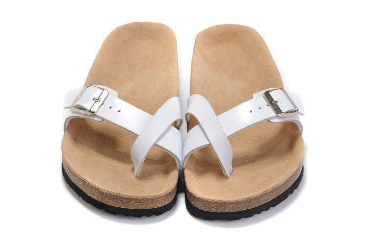 Известный бренд Аризона плоские сандалии Женские повседневные туфли X тип женский одноместный пряжка летние пляжные тапочки из натуральной кожи с оригинальной коробкой
