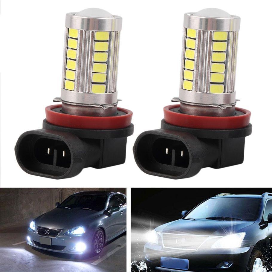 Super Bright H8//H11 12V 5630 33SMD White LED Car Fog Light Bulbs Driving Lamp