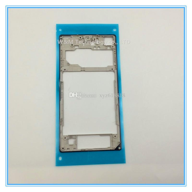 White Black Replacement Parts Rear Back Middle Housing Frame Bezel Plate for Sony Xperia Z1 L39h C6903 Whole Sale with sticker