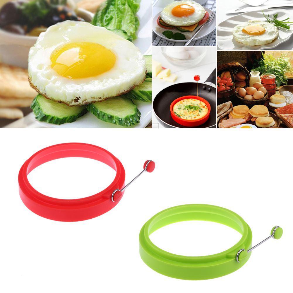 couleur: rouge DE-FR Bague /à cr/êpes en silicone avec oeuf au plat Omelette /Œuf au plat rond Shaper Eggs Moule pour la cuisson du petit-d/éjeuner Po/êle /à frire Four Cuisine
