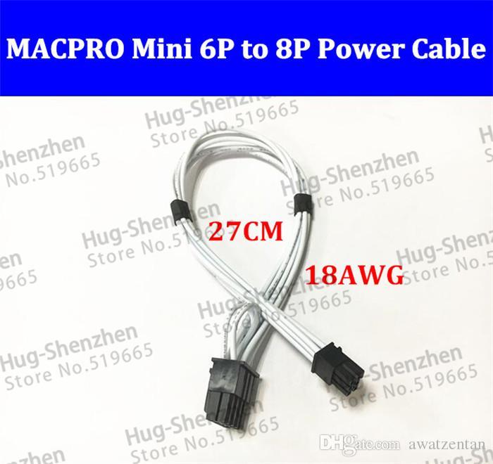 Mini6pin zur PCIE 8pin 8 Stiftvideokarten-Energiekabelunterstützung für Mac ProG5 GTX480 gtx680-1pcs / lot