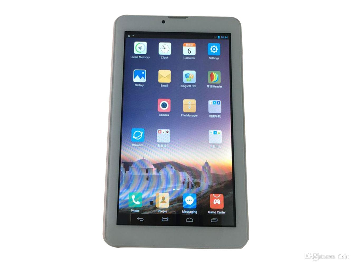7 inch 3G tablet Phone Calling Tablet PC MTK6572 Dual Core Android 4.4 Capacitive Touch WCDMA GSM Bluetooth Camera Dual Sim Card