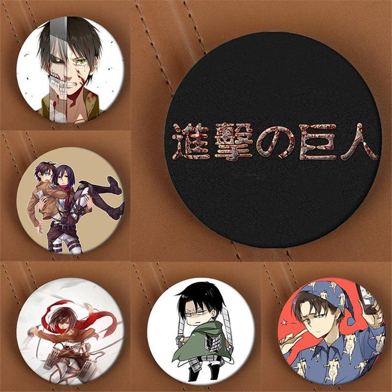 Großhandel-Youpop Angriff auf Titan Anime Brosche Abzeichen Zubehör für Kleidung Hut Rucksack Dekoration Männer und Frauen Boy Girl HZ1400