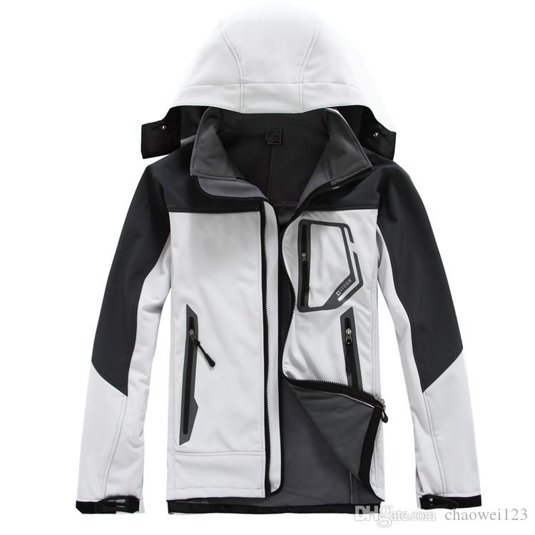 RK Outdoor Winter Men's Hoodies SoftShell Jackets Fashion Apex Bionic Windproof Waterproof Thermal For Hiking Camping Ski Down Sportswe