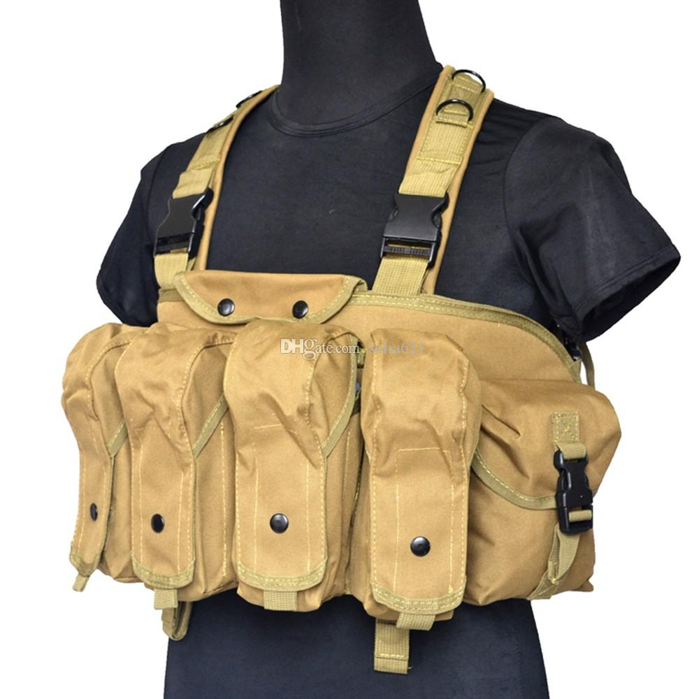 Tactical Chest Rig Load Bearing Equipment Carrier Training Outdoor Vest