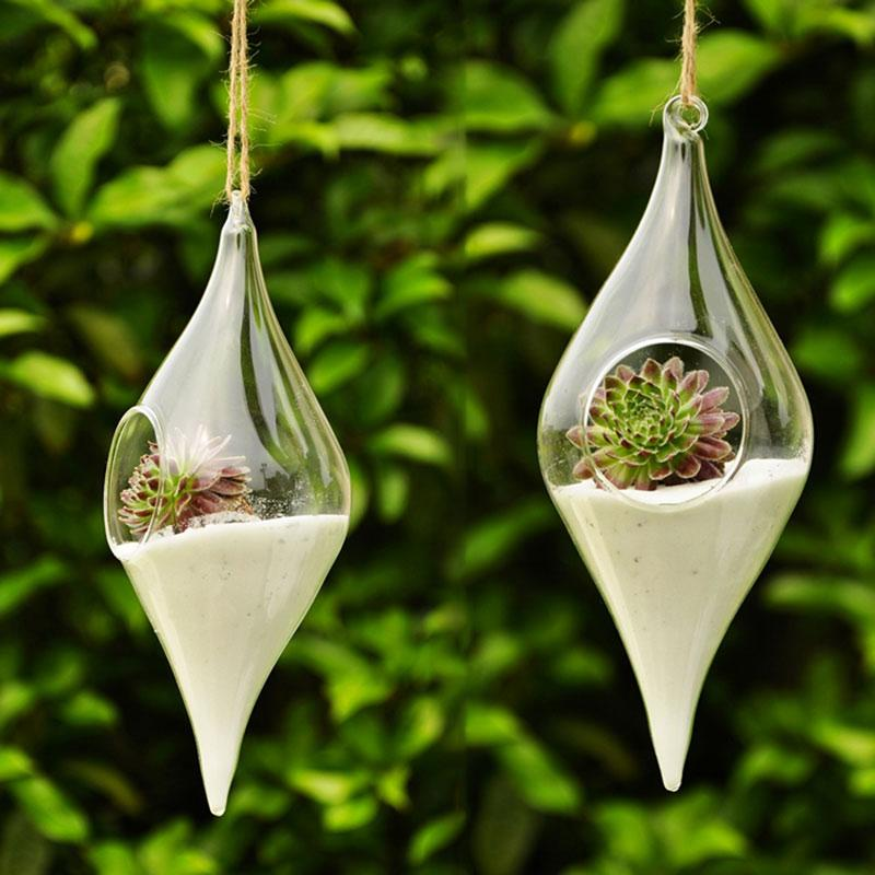 Hängende Glasvase Hängen Terrarium hydroponischen Pflanze Blume Klar Container Innen Kreativer Hauptdekor