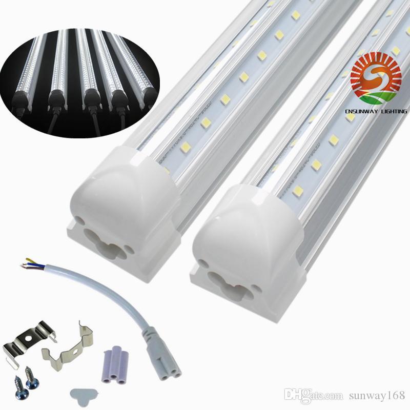 V-Shaped T8 Integrated warm white cold white color 4ft 5ft 6ft 8ft Cooler Door Led Tubes light Double Sides SMD2835 Led shop lights