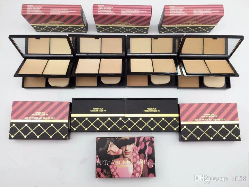 ¡Promoción navideña! Venta caliente NUEVO maquillaje NUTC RACKER SWEET Colección Mate Polvo Facial Doble cubierta 4 color DHL Envío + REGALO