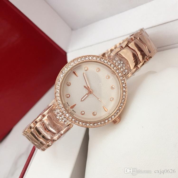 4de0f30ed194c 2018 Ultra Thin Rose Gold Woman Diamond Fashion Watches Brand Luxury Nurse  Ladies Dresses Female Folding Buckle Wristwatch Gifts For Girls Cheap  Watches ...