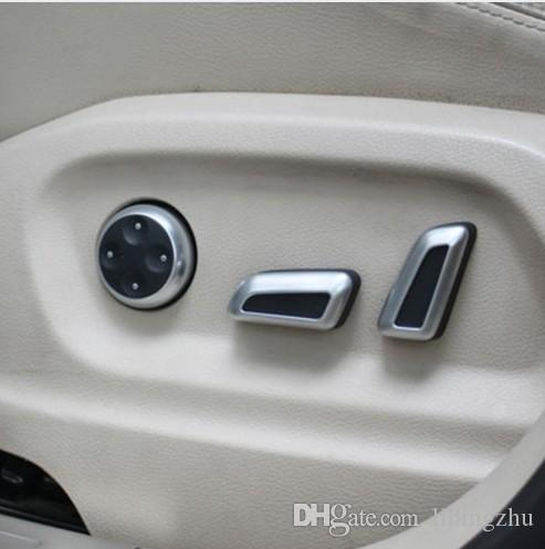 6 Pcs Car Seat Adjustment Button Switch Chrome Trim for Volkswagen VW Jetta MK5 Passat B7 CC GTI Tiguan Audi A4 A5 A6 A7 Q5 Q3