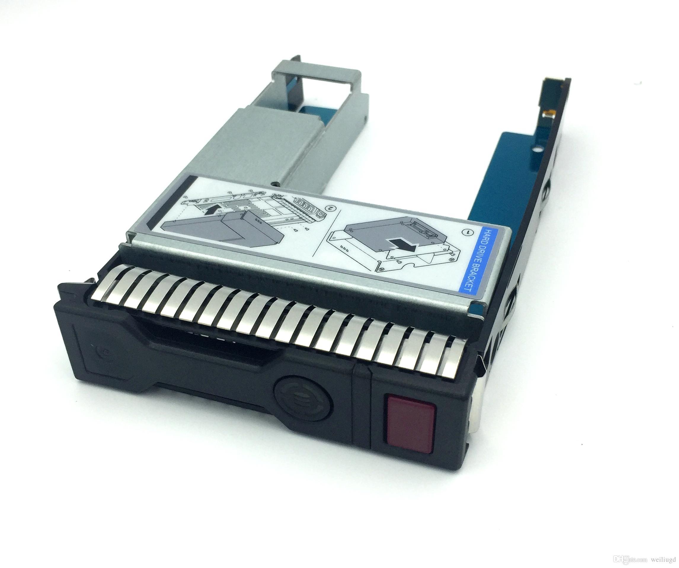 """651314-001 + 9W8C4 2.5 """"SSD A 3.5"""" SATA Convertidor Unidad de bandeja de disco duro para servidor HP G8 / Gen9"""