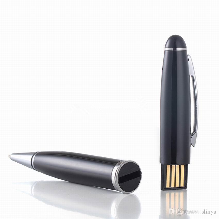 10pcs / lot 8GB Mini Pen Style Disco USB Audio Registratore vocale digitale USB Flash Drive Batteria ricaricabile agli ioni di litio