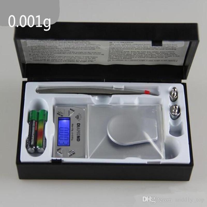 50g 20g 10g display LCD scala tasca dell'equilibrio di grammo Gioielli 0.001g mini elettronico digitale a portamento peso + pinzetta Hot