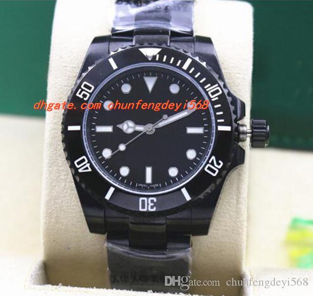 최고 품질 럭셔리 손목 시계 스테인레스 스틸 PVD 114060, 세라믹 베젤 40mm 자동 기계 남성용 시계와 블랙 다이얼 새로운 도착