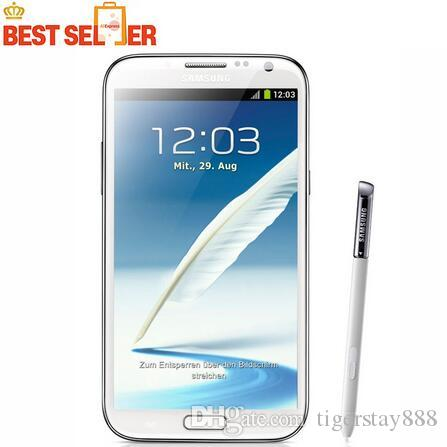 N7100 сотовый телефон Oringnal Samsung Galaxy Note 2 N7100 Мобильный телефон 5,5-дюймовый 8.0MP 2GB RAM 16GB ROM Quad Core Free Shipping
